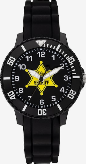 s.Oliver Uhr in gelb / schwarz / weiß, Produktansicht