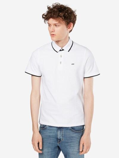 JACK & JONES Poloshirt in weiß: Frontalansicht