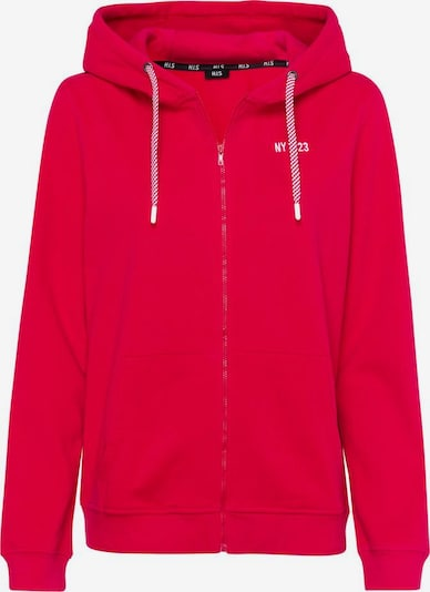 HIS JEANS Sweatjacke in rot, Produktansicht