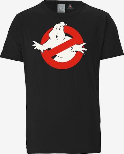LOGOSHIRT T-Shirt in rot / schwarz / weiß, Produktansicht