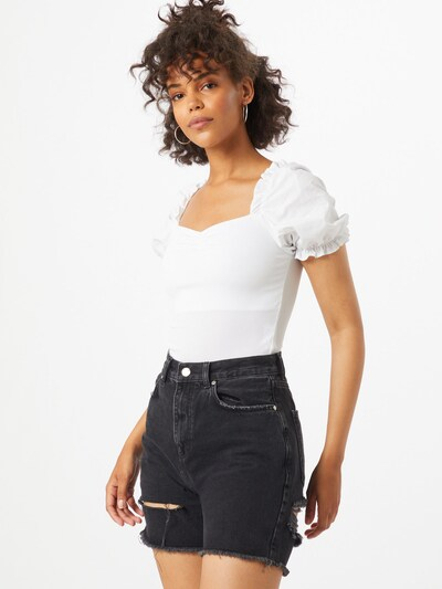 NEW LOOK Shirt body 'POPLIN' in de kleur Wit, Modelweergave