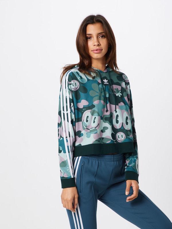 Originals Blanc shirt 'cropped' Pastel Sweat En JadeVert Foncé Violet Adidas WEbDH29eYI