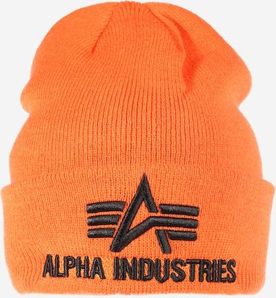 ALPHA INDUSTRIES Mütze in orange / schwarz, Produktansicht