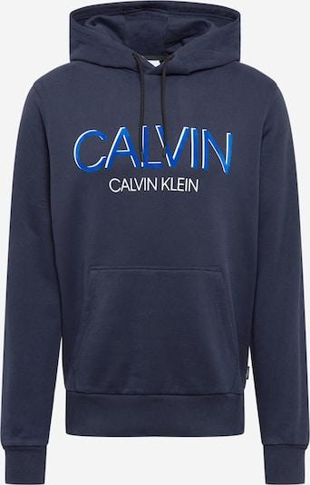 Calvin Klein Majica | modra / mornarska / bela barva, Prikaz izdelka