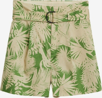 MANGO Pantalon 'Kai' en beige / vert, Vue avec produit