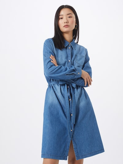 Cartoon Kleid in blue denim / hellblau, Modelansicht