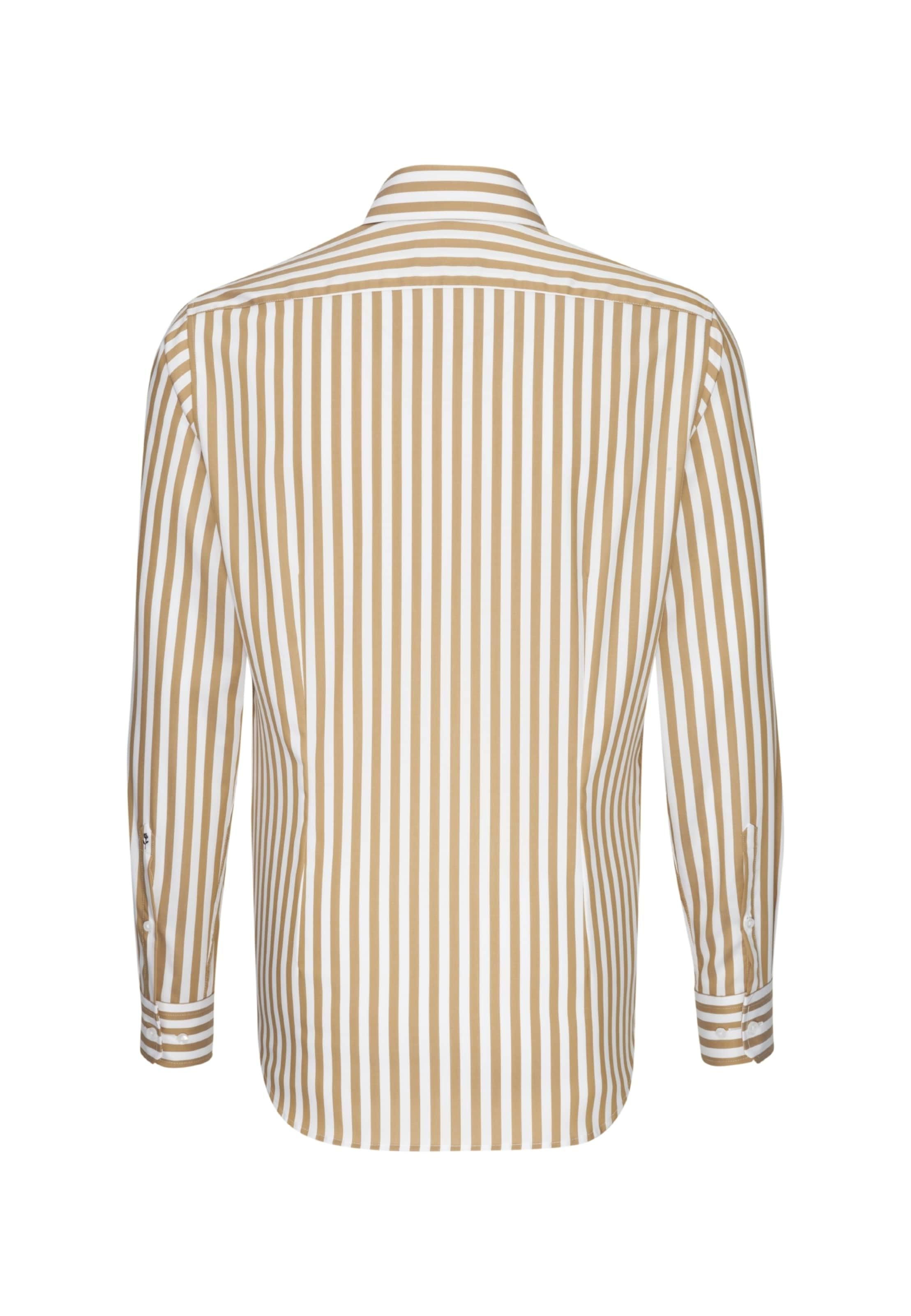 Overhemd BruinWit Zakelijk Seidensticker In 6Y7yIbfgv