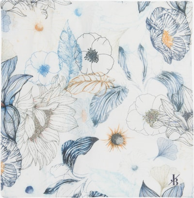 Jacques Britt Einstecktuch in marine / hellblau / weiß, Produktansicht
