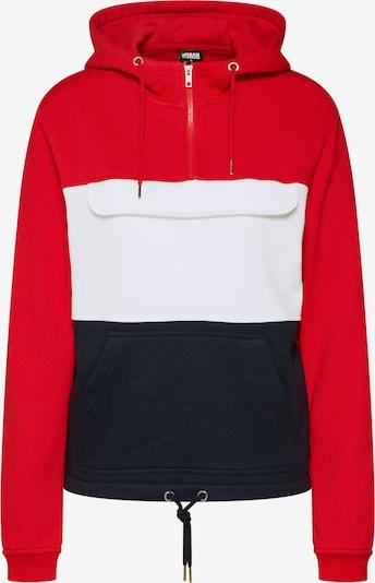 Urban Classics Sweatshirt in navy / rot / weiß: Frontalansicht