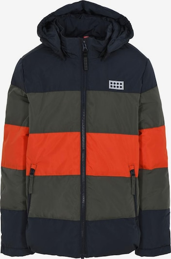 LEGO WEAR Winterjacke in navy / oliv / orange, Produktansicht