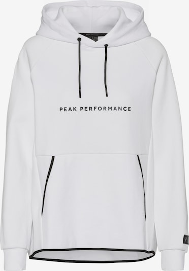PEAK PERFORMANCE Hoodie 'Tech' in schwarz / weiß, Produktansicht