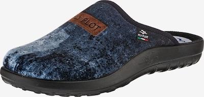 FLY FLOT Pantoffeln in hellblau / dunkelblau, Produktansicht