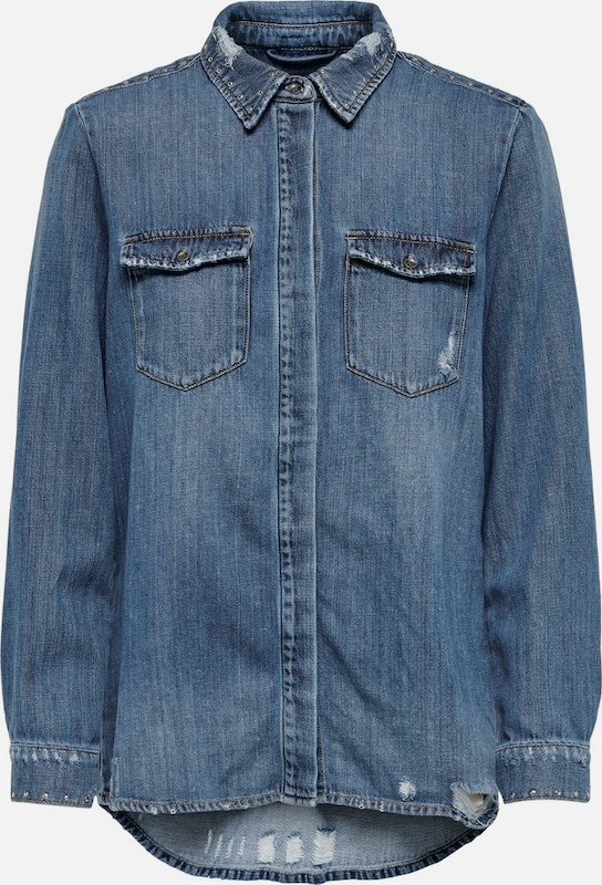 ONLY Jeanshemd in blue denim: Frontalansicht