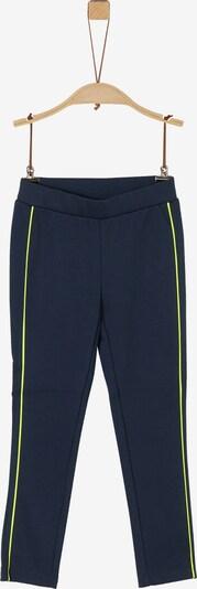 s.Oliver Leggings in blau / limone, Produktansicht
