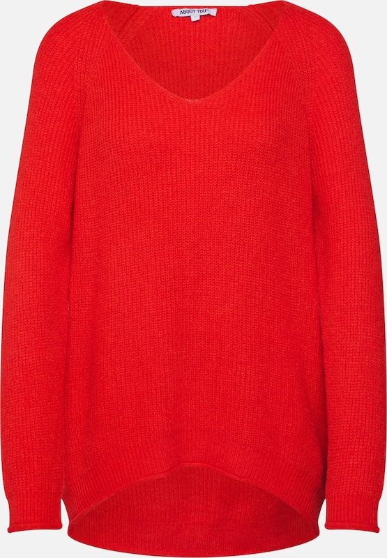 ABOUT YOU Pullover 'Laren' in rot, Produktansicht