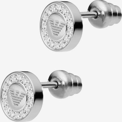 Emporio Armani Paar Ohrstecker 'EG3340040' in silber / weiß, Produktansicht