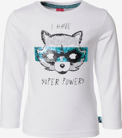 s.Oliver Junior Shirt in schwarz / weiß, Produktansicht