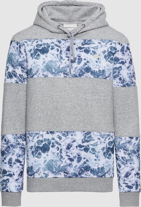 Khujo Sweatshirt 'Whisper' in blau   graumeliert  Neuer Aktionsrabatt