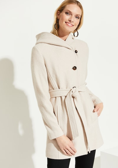 COMMA Mantel in creme, Modelansicht