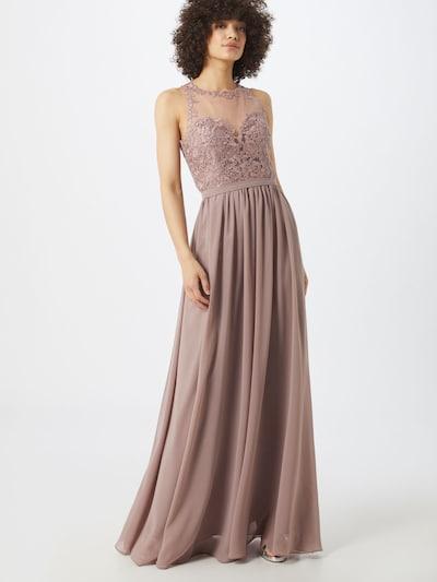 mascara Společenské šaty 'EMB NETT' - šedobéžová, Model/ka