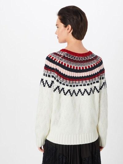 ABOUT YOU Sweter 'Alia' w kolorze różowy pudrowy / czerwony / offwhitem: Widok od tyłu