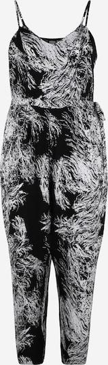 Salopeta Urban Classics Curvy pe negru / alb, Vizualizare produs