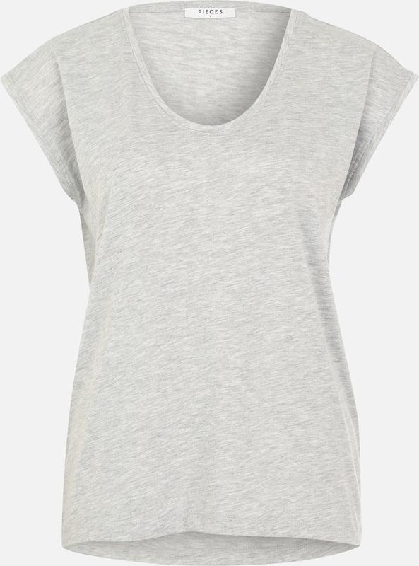 Shirt 'billo' Pieces Grijs In Gemêleerd n0Om8vNwyP