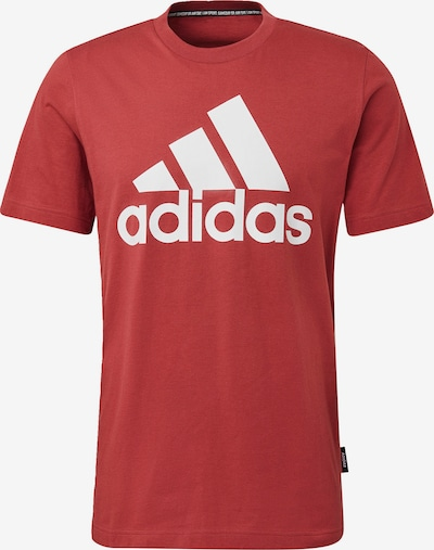 ADIDAS PERFORMANCE T-Shirt 'Must Haves Badge of Sport' in rot / weiß, Produktansicht