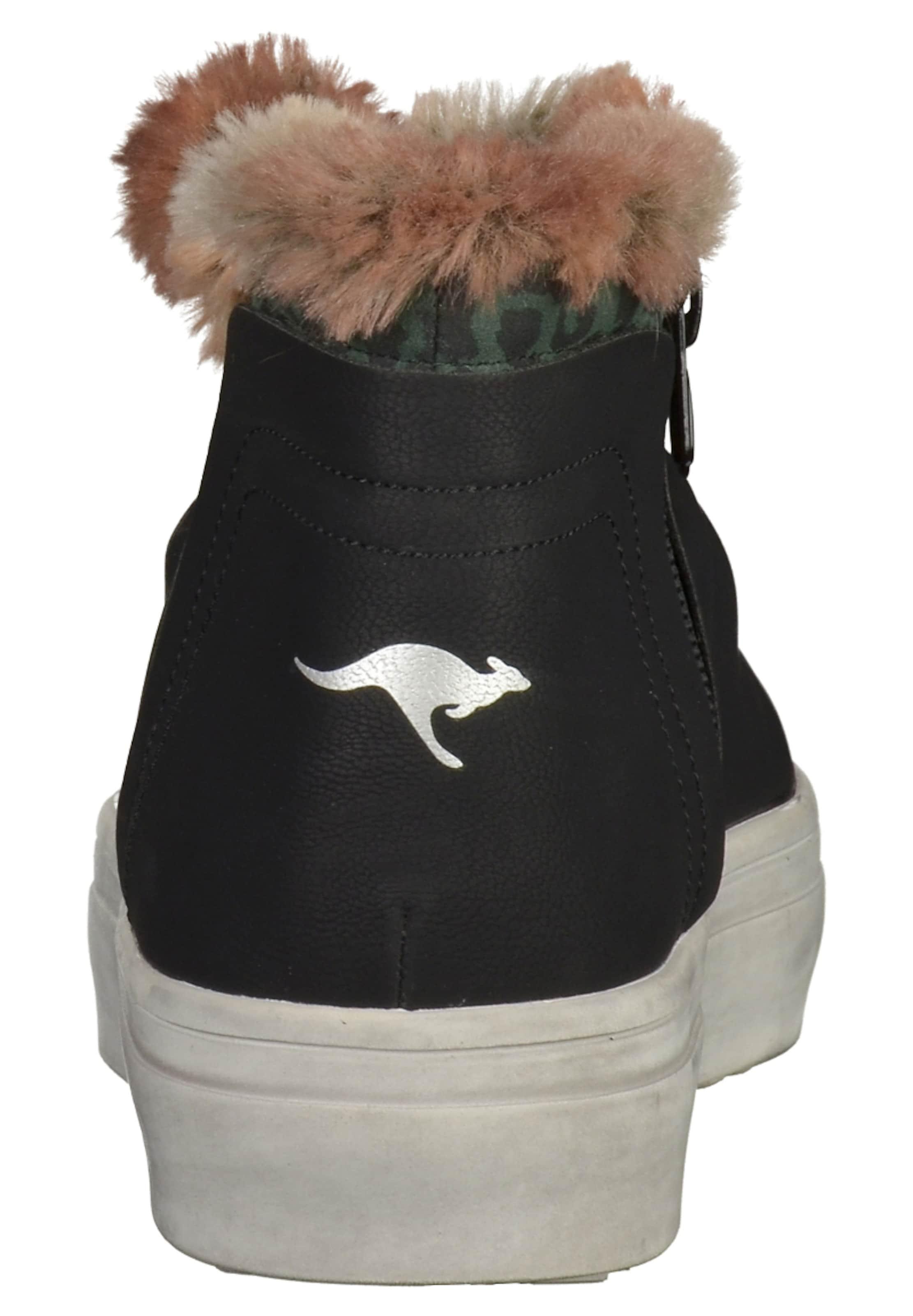 Kangaroos ChamoisSmaragd Weiß Stiefelette In Schwarz OXuiTZwPlk