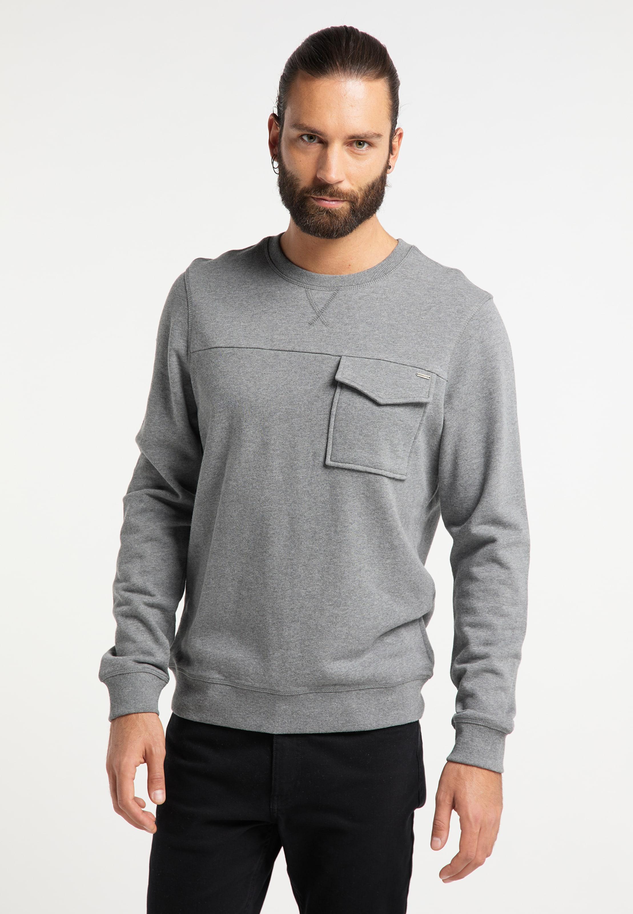 DREIMASTER Sweatshirt in grau Rundhals-Ausschnitt 4251686653080