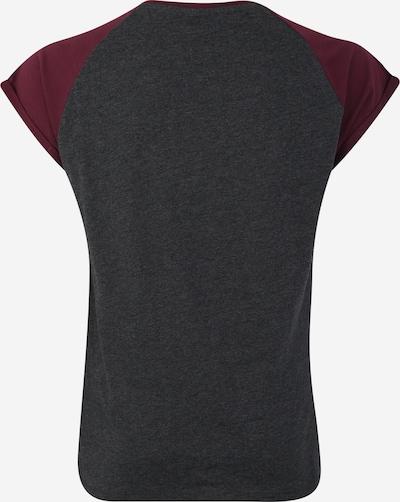 Urban Classics Curvy T-Krekls pieejami tumši pelēks / vīnsarkans: Aizmugures skats