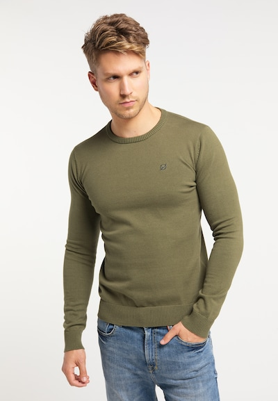 MO Pullover in oliv: Frontalansicht