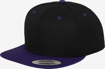 Flexfit Classic Snapback in violettblau / schwarz: Frontalansicht