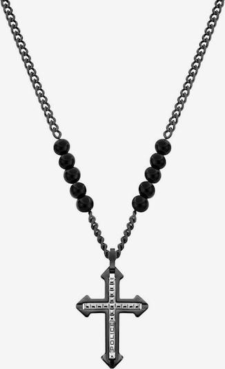 POLICE Kette 'Kreuz' in grau / anthrazit, Produktansicht