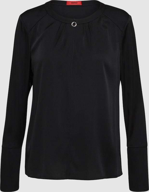 HUGO Blause 'Cidy-1' in schwarz  Freizeit, schlank, schlank