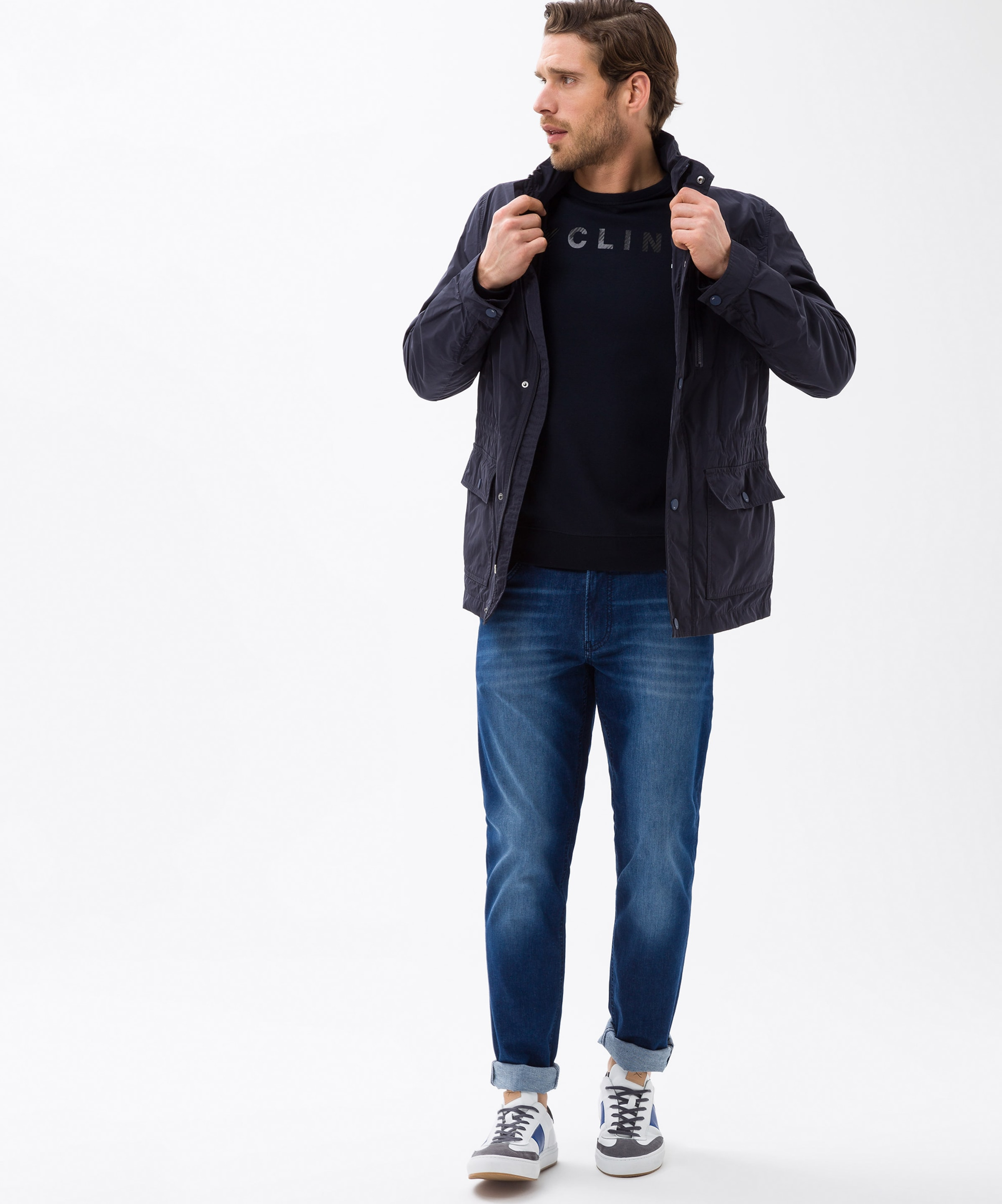 'sawyer' Weiß In KobaltblauSchwarz Brax Sweatshirt 5AjL4R