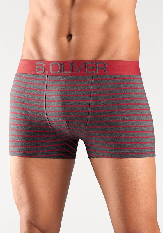 s.Oliver RED LABEL Bodywear Boxer (4 Stück), mit kontrastfarbenem Webbund
