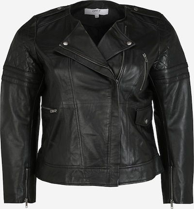 ONLY Carmakoma Tussenjas 'CARROCK LEATHER JACKET PRINT' in de kleur Zwart, Productweergave