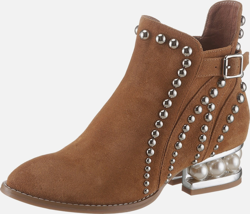 Jeffrey Campbell Stiefelette in cognac: Frontalansicht