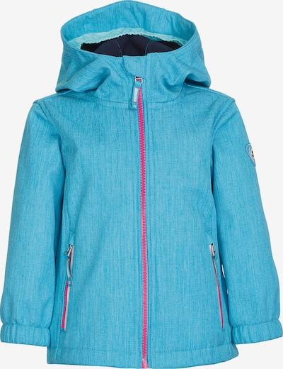 KILLTEC Jacke 'Fany' in hellblau / pink, Produktansicht