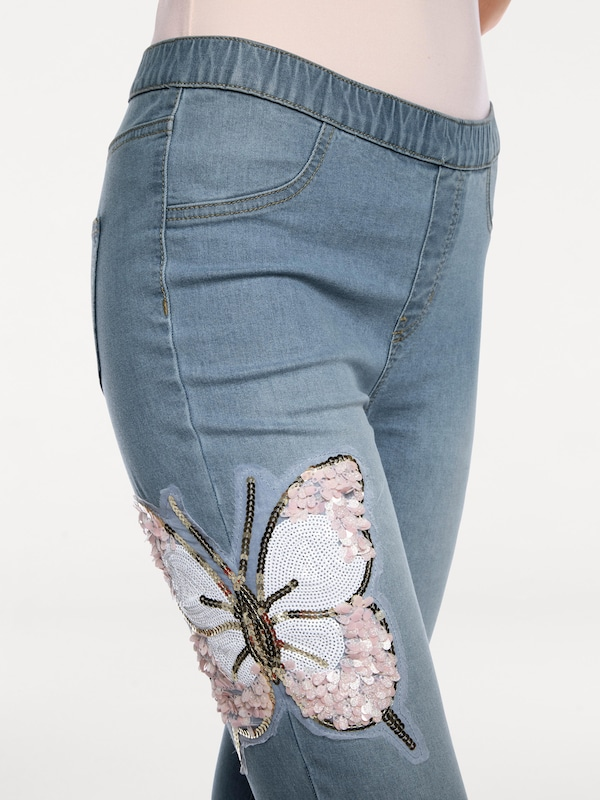 Linea Tesini by heine Jeggings mit Pailletten