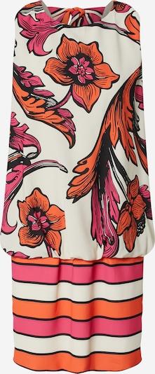 Forever Unique Kleid 'EVRA' in pink / orangerot / offwhite, Produktansicht