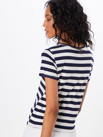 ONLY Shirt in nachtblau / weiß: Rückansicht