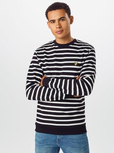 Lyle & Scott Sweatshirt 'Breton' in de kleur Zwart / Wit: Vooraanzicht