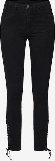 VILA Jeans 'VIJULAS RW 7/8 TIE JEANS' in de kleur Zwart, Productweergave