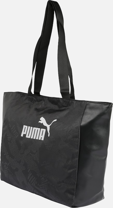 PUMA Sporttas 'Core Up' in de kleur Zwart / Wit, Productweergave