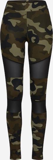 Urban Classics Curvy Leggings in de kleur Kaki / Olijfgroen / Zwart, Productweergave