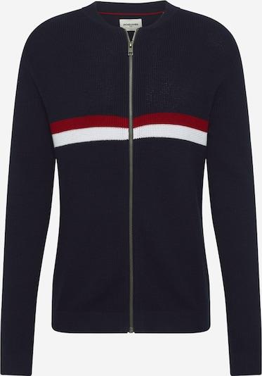 JACK & JONES Gebreid vest 'Mountain' in de kleur Navy / Rood / Wit, Productweergave