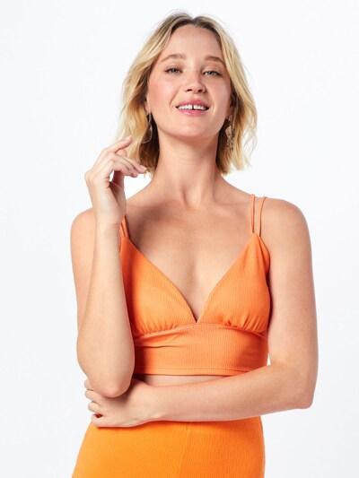 LeGer by Lena Gercke Haut 'Hedi' en orange, Vue avec modèle
