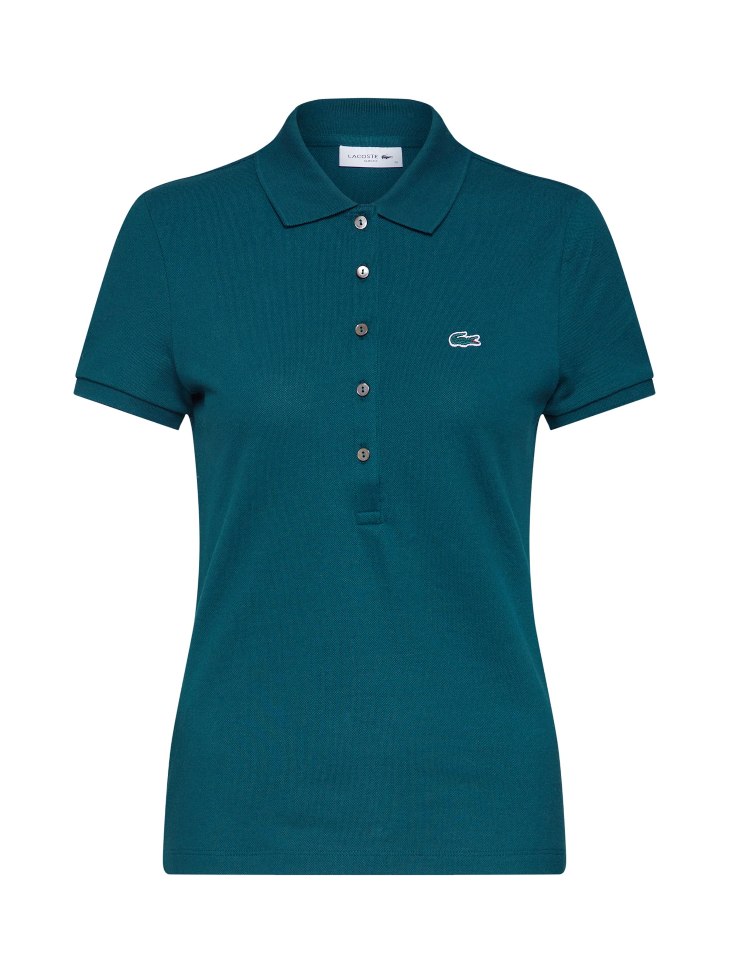 shirt Lacoste En Vert Foncé Bord Ma' cotes T 'chemise Col ZlPiuwOXTk